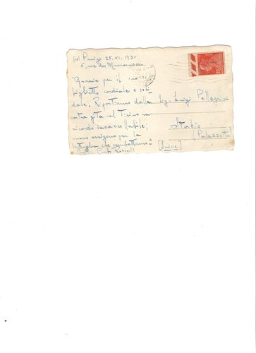 Cartolina di Carlo Rosselli