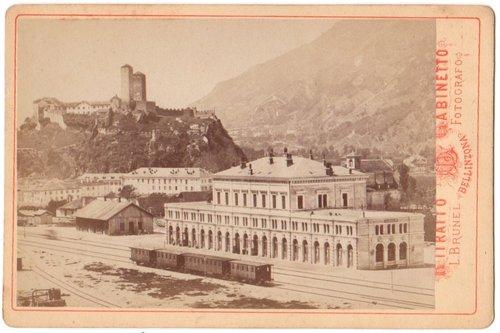 Bellinzona, stazione ca. 1890