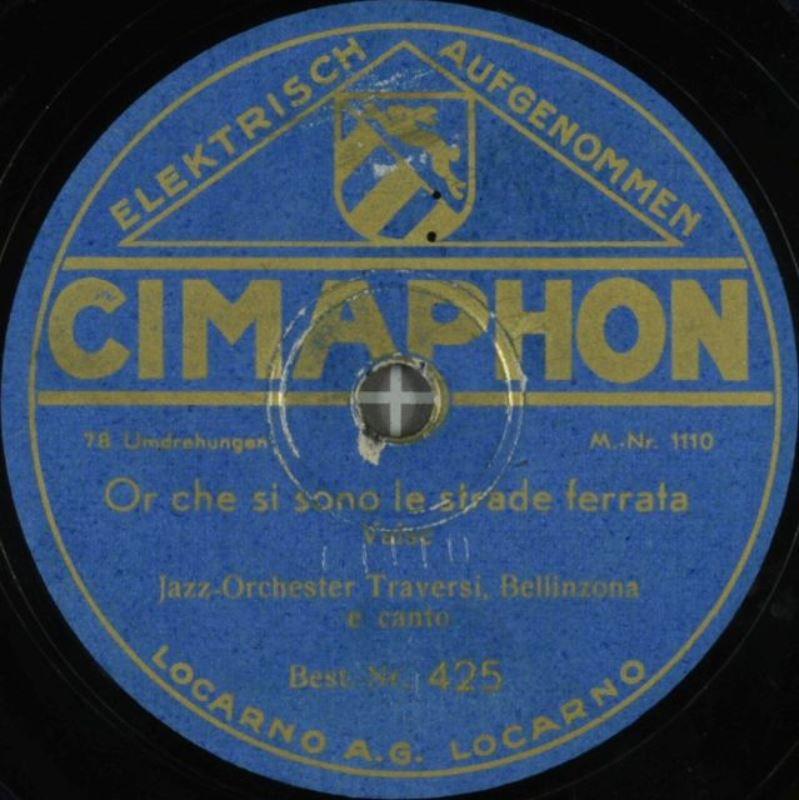 L'etichetta discografica Cimaphon di Locarno
