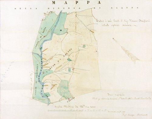 Mappa della miniera di Aranno