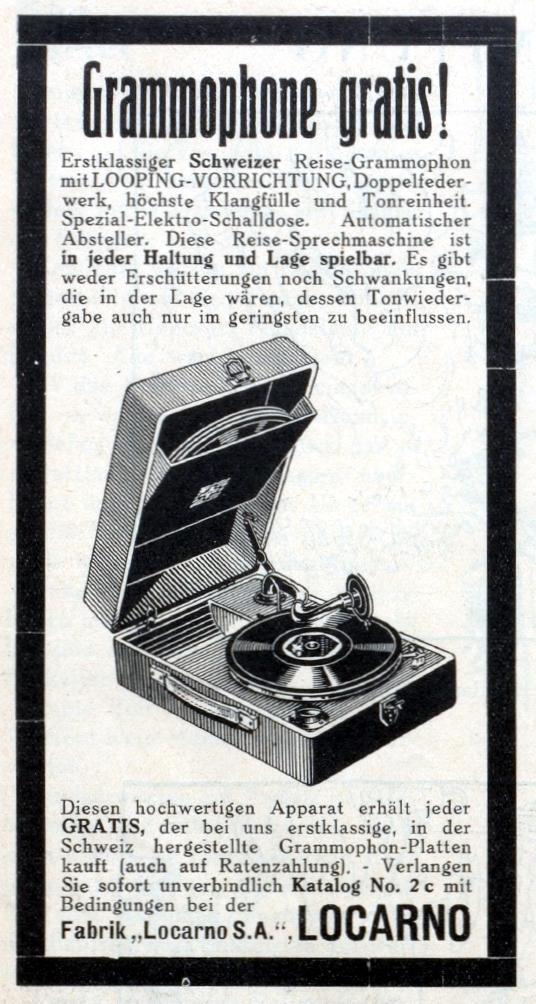 Fabbrica di grammofoni locarnese?