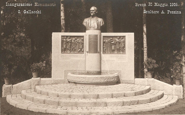 Inaugurazione Monumento O. Gallacchi Breno 1926
