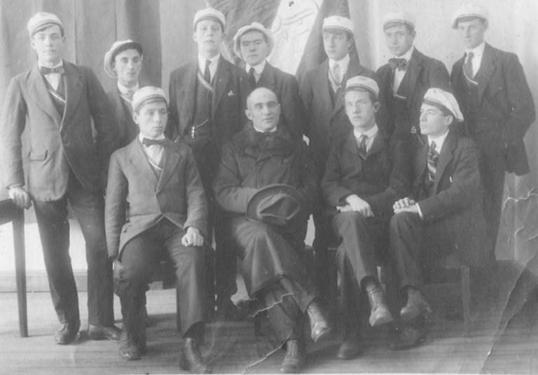 Studenti della scuola commerciale di Bellinzona 1918